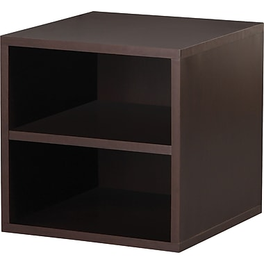 Foremost® Hold'ems Modular Cube Storage System, Espresso 15in.H x 15in.W x 15in.D Shelf Cube