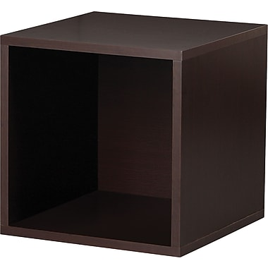 Foremost® Hold'ems Modular Cube Storage System, Espresso 15in.H x 15in.W x 15in.D Open Cube