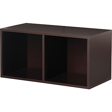 Foremost® Hold'ems Modular Cube Storage System, Espresso 30in.H x 15in.W x 15in.D Divided Cube