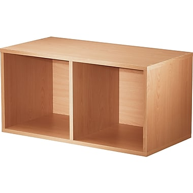 Foremost® Hold'ems Modular Cube Storage System, Honey Oak 30in.H x 15in.W x 15in.D Divided Cube