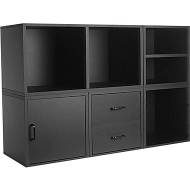 Foremost Hold'ems 5-in-1 Modular Storage Cube System, Black