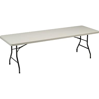 Sudden Solutions™ 8' Standard-Grade Resin Folding Banquet Table