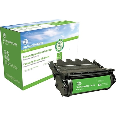 Sustainable Earth by Staples™ Reman Laser Toner Cartridge, Lexmark T634 (12A7365/12A7465)