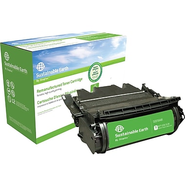 Sustainable Earth by Staples Remanufactured Black Toner Cartridge, Lexmark T644 (64435XA, 64415XA, 64404XA)
