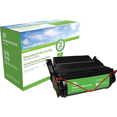 Staples™ Remanufactured Black Toner Cartridge, Lexmark 12A5745, 12A5840