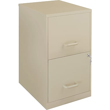 Office Designs Vertical File Cabinets, 18in. Deep 2-Drawer, Letter Size,  Putty
