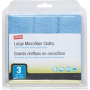 Staples MicroFiber Cloths 3/pk