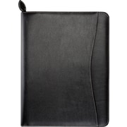 "Day-Timer® D85457 8.5"" W X 11"" L Basque Bonded Leather Wire-Bound Organizer Starter Set with Zip Closure, Black"