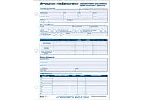 Adams® Employment Application Forms, 8-1/2' x 11', 1 Part
