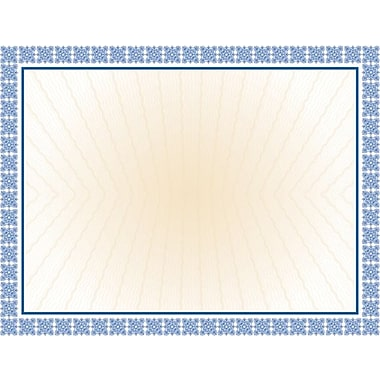 Great Papers­­® Westminster Blue Parchment Certificate