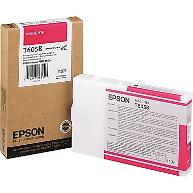 Epson T605 110ml Magenta UltraChrome Ink Cartridge (T605B00)