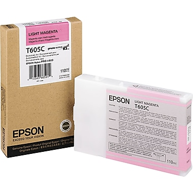 Epson T605 110ml Light Magenta UltraChrome Ink Cartridge (T605C00)
