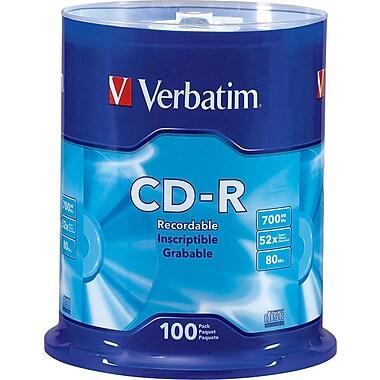 Verbatim® CD-R 52x 700MB/80Min, 100-Pack Spindle