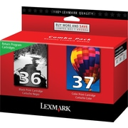 Lexmark 36/37 Black and Color Return Program Ink Cartridges, 2/Pack