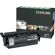 Lexmark X651A11A Black Return Program Toner Cartridge