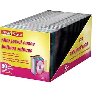 Staples® - Boîtiers minces pour CD, paquet de 50
