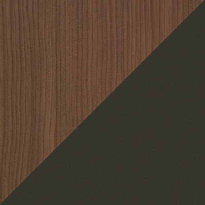 Bush Cubix Left L-Bow Desk, Cappuccino Cherry/Hazelnut Brown