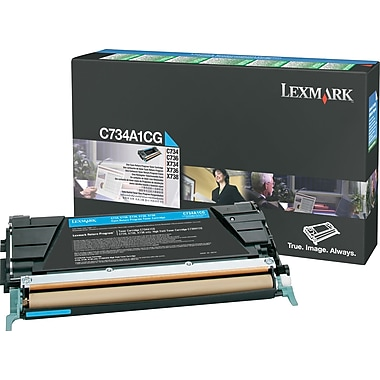 Lexmark C734A1CG Cyan Return Program Toner Cartridge