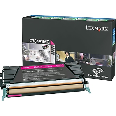 Lexmark C734A1MG Magenta Return Program Toner Cartridge