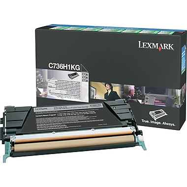 Lexmark C736H1KG Black Return Program Toner Cartridge, High Yield