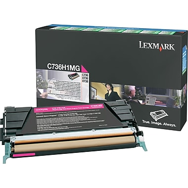 Lexmark Magenta Toner Cartridge (C736H1MG), High Yield, Return Program