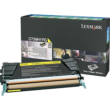 Lexmark C736H1YG Yellow Return Program Toner Cartridge, High Yield