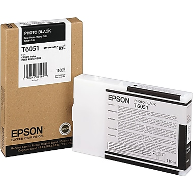 Epson T605 110ml Photo Black UltraChrome Ink Cartridge (T605100)
