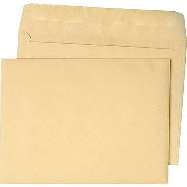 Quality Park Booklet Envelope Natural Kraft Recycled 9