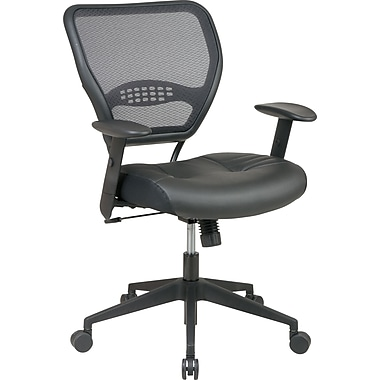 Office Star Deluxe Task  With Air Grid Back And Leather Seating