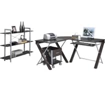 OSP Design™ X-Text L-Desk Collection