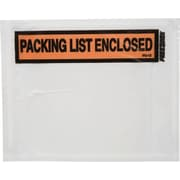 Duck® Panel Print Packing List Envelopes, 4-1/2 x 5-1/2, Packing List Enclosed