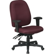 Office Star Fabric High Back Multi Function Ergonomic Task Chair, Burgundy