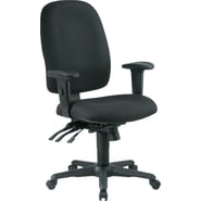 Office Star Fabric High Back Multi Function Ergonomic Task Chair, Black