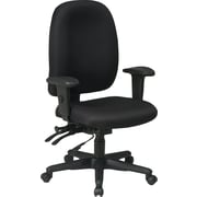 Office Star Ratchet Back Dual Function Fabric Task Chair with Seat Slider, Black