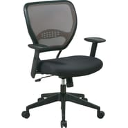 Office Star™ SPACE® Air Grid™ Deluxe Mid-Back Mesh Manager's Chairs, Black Mesh