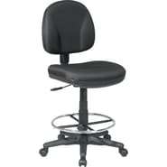 Office Star™ Fabric Armless Drafting Chair, Black