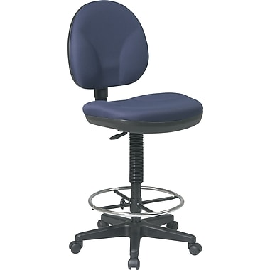 Office Star™ Fabric Drafting Stool, Navy