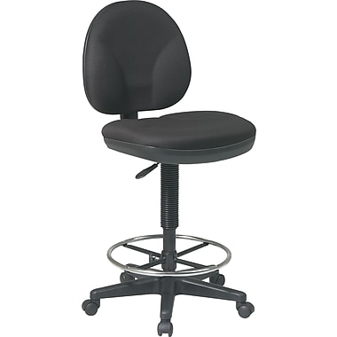 Office Star™ Fabric Drafting Stool, Black