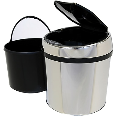 iTouchless® Fully Automatic Stainless Steel Touchless Trash Can® TX, 1.5 gal.