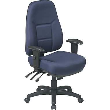 Office Star™ Super-Ergonomic High-Back Fabric Task Chair, Navy