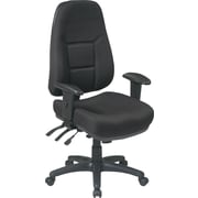 Office Star™ Super-Ergonomic High-Back Fabric Task Chair, Black