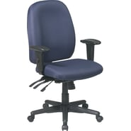 Office Star Fabric High Back Multi Function Ergonomic Task Chair, Blue