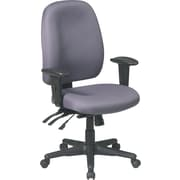 Office Star Fabric High Back Multi Function Ergonomic Task Chair, Gray