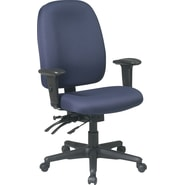 Office Star Ratchet Back Dual Function Fabric Task Chairs with Seat Slider