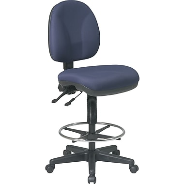 Office Star™ Deluxe Ergonomic Drafting Chair, Navy
