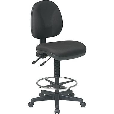 Office Star™ Deluxe Ergonomic Drafting Chair, Black