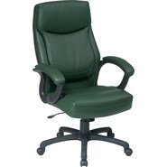 Office Star™ Bonded Leather Executive High-Back Chair, Green