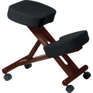 Office Star™ Ergonomic Fabric Knee Chair, Black