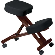 Office Star Ergonomic Fabric Knee Chair, Armless, Black/Mahogany