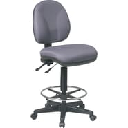 Office Star™ Deluxe Ergonomic Drafting Chair, Gray